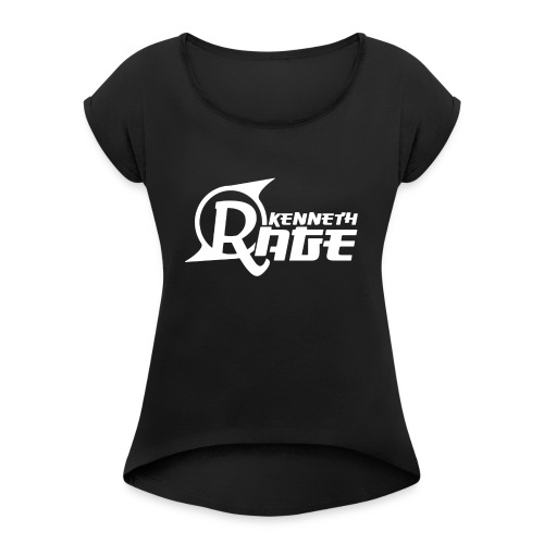 Basic White Kenneth Rage Impression - Women's Roll Cuff T-Shirt