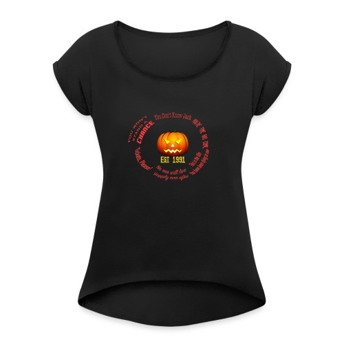 HHN Circle Icon Solo - Women's Roll Cuff T-Shirt