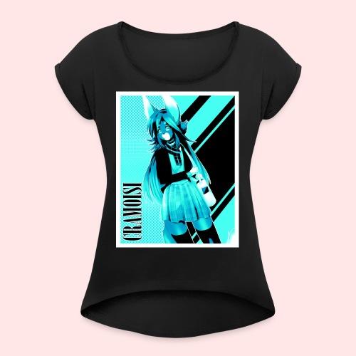 School Uniform Cramoisi - Women's Roll Cuff T-Shirt