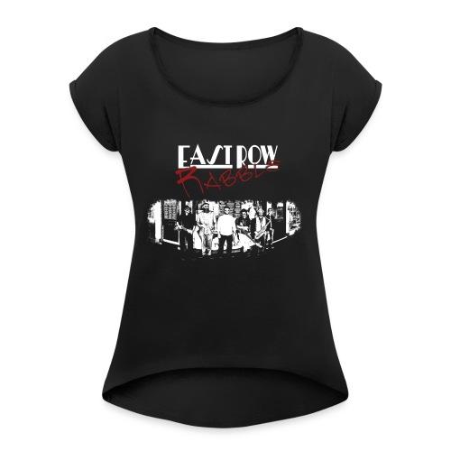 Phoenix Front - Women's Roll Cuff T-Shirt