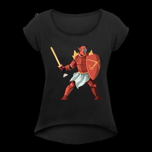 trapdoorcarp - Women's Roll Cuff T-Shirt