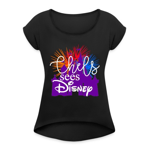 New logo with Fireworks - Women's Roll Cuff T-Shirt