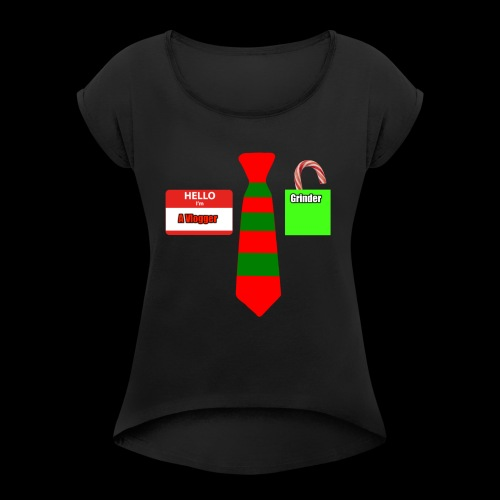 Christmas Merch! - Women's Roll Cuff T-Shirt