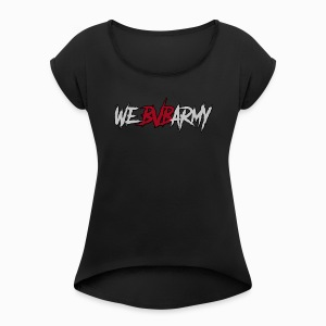 BLACK VEIL BRIDES ARMY - Women's Roll Cuff T-Shirt