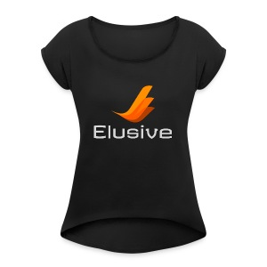 Elusive White - Women's Roll Cuff T-Shirt