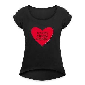 Loving Hearts - Women's Roll Cuff T-Shirt
