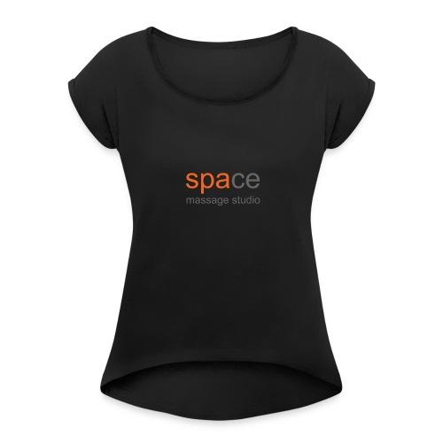 Space Massage Studio Logo - Women's Roll Cuff T-Shirt