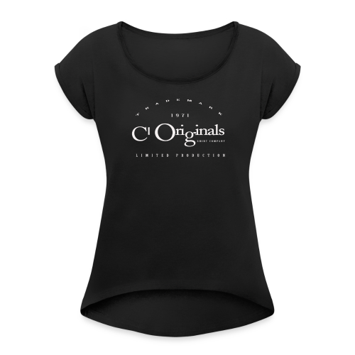 CL ORIGINALS LIMITED PRODUCTION LOGO - Women's Roll Cuff T-Shirt