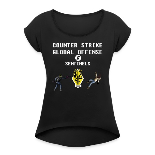 CS:GO Sentinels Spectrum Division - Women's Roll Cuff T-Shirt