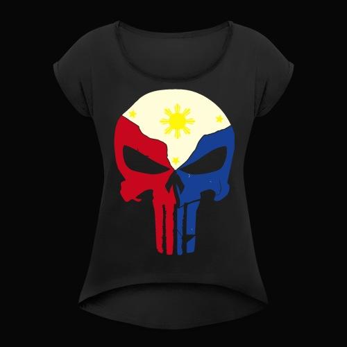 punisher ph 2 - Women's Roll Cuff T-Shirt