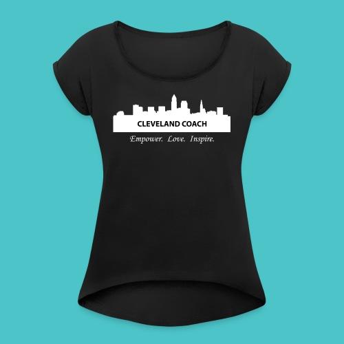 clecoach - Women's Roll Cuff T-Shirt