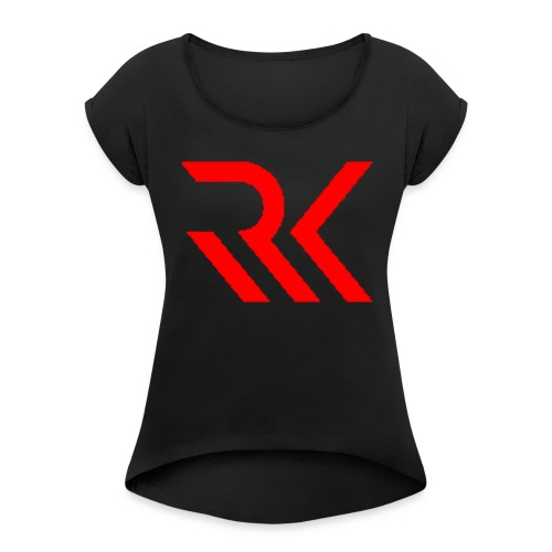 My logo - Women's Roll Cuff T-Shirt