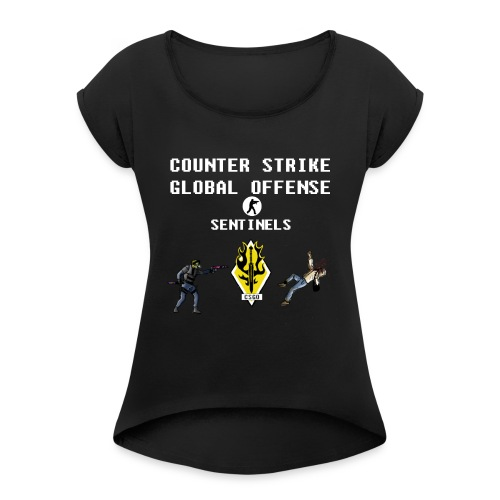 CS:GO Sentinels Spectrum Division - Women's Roll Cuff T-Shirt