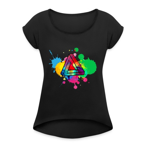 PAINT SPLASH - Women's Roll Cuff T-Shirt