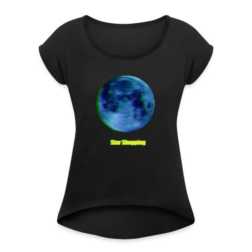 moon - Women's Roll Cuff T-Shirt