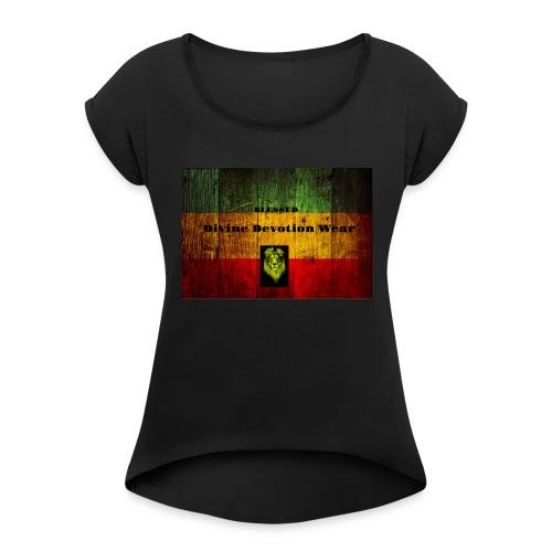 Divine Devotion Wear Blessed - Women's Roll Cuff T-Shirt