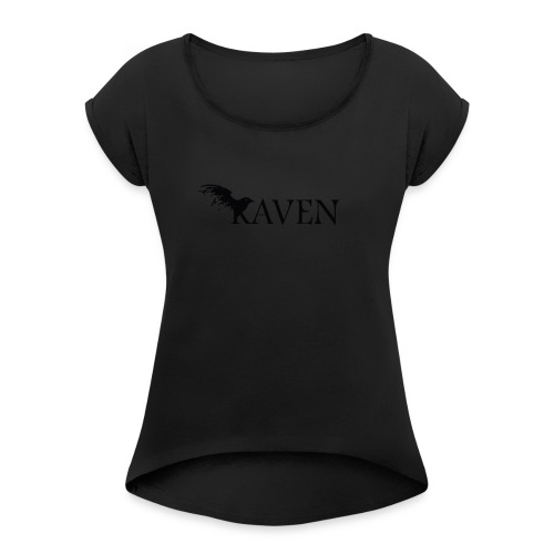 Raven Basic - Women's Roll Cuff T-Shirt