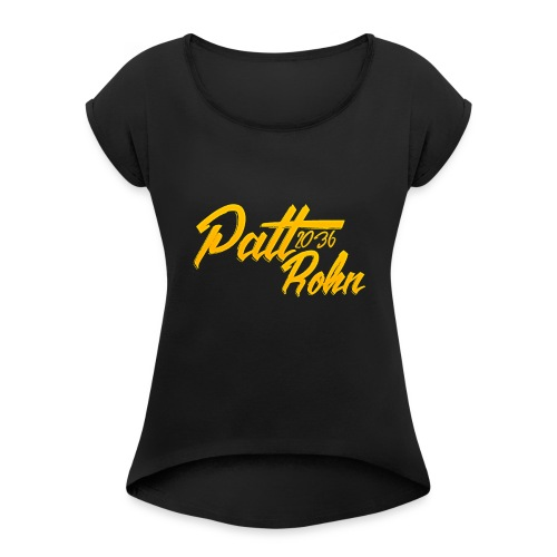 Patt Rohn 2036 Golden - Women's Roll Cuff T-Shirt