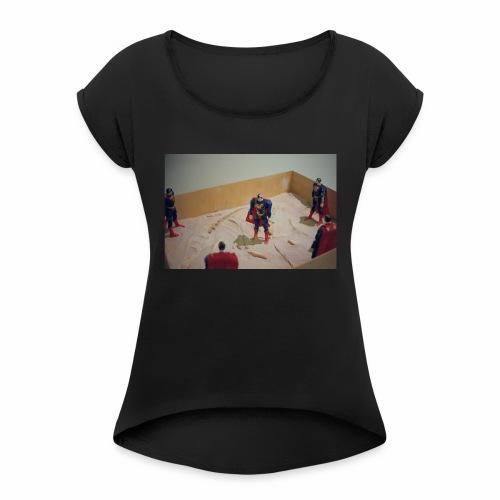Negative Supermen - Women's Roll Cuff T-Shirt
