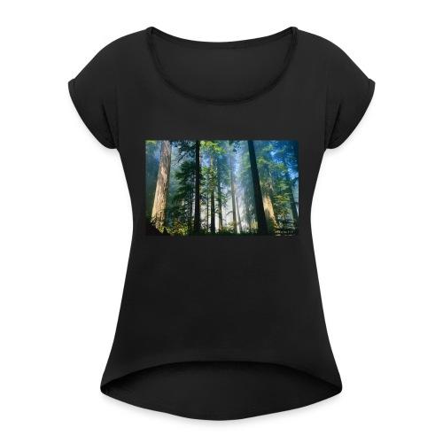 Redwood Forest LGLT - Women's Roll Cuff T-Shirt