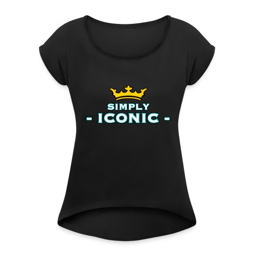 Brian Justine Pre Simply Iconic Logo - Women's Roll Cuff T-Shirt