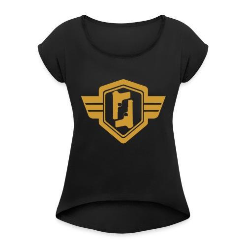 Battle Season Emblem - Women's Roll Cuff T-Shirt