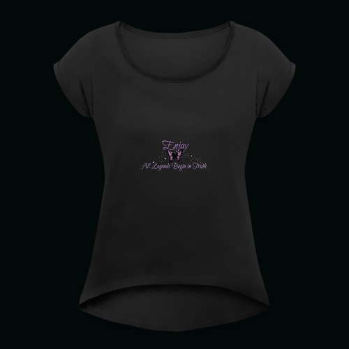 Enjay's Logo - Women's Roll Cuff T-Shirt