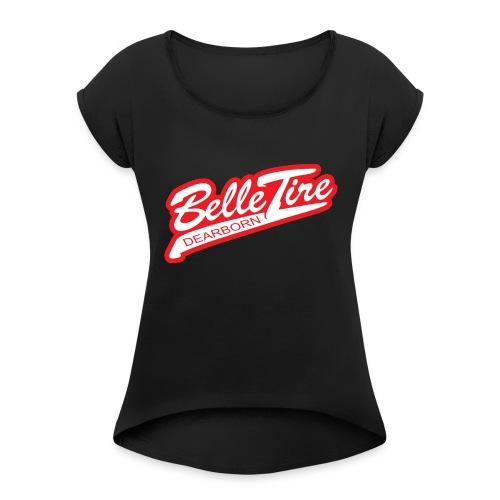 BT Dearborn Logo ONLY - Women's Roll Cuff T-Shirt