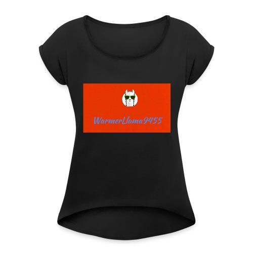 My Youtube Logo - Women's Roll Cuff T-Shirt