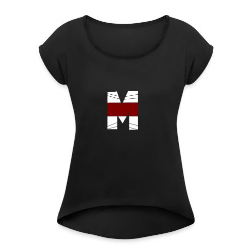 WHITE AND RED M Season 2 - Women's Roll Cuff T-Shirt