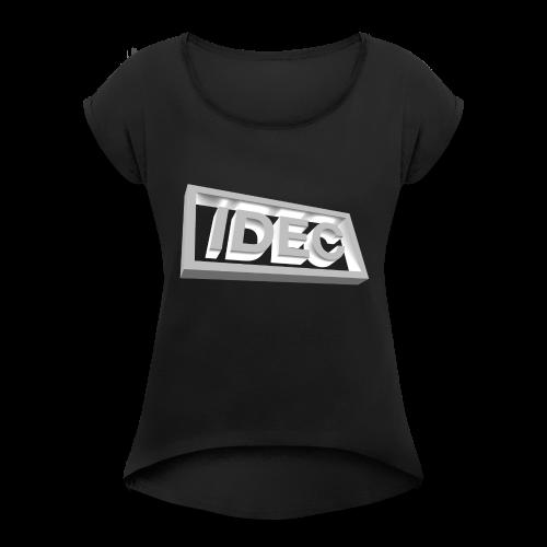 3D IDEC Logo - Women's Roll Cuff T-Shirt