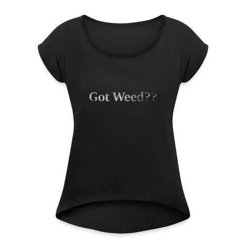 smokeText - Women's Roll Cuff T-Shirt