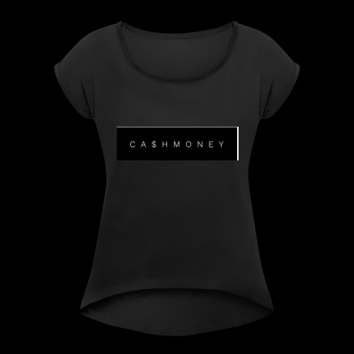 Ca$hMoney box logo v2 - Women's Roll Cuff T-Shirt