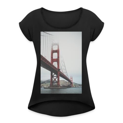 Golden Gate Bridge - Women's Roll Cuff T-Shirt