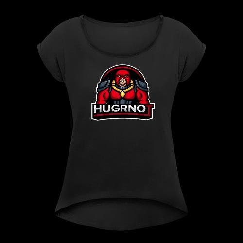 Hugrnot Logo - Women's Roll Cuff T-Shirt
