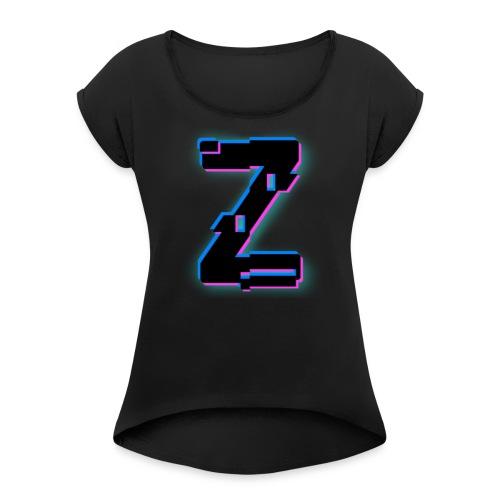 Glitchy Z - Women's Roll Cuff T-Shirt