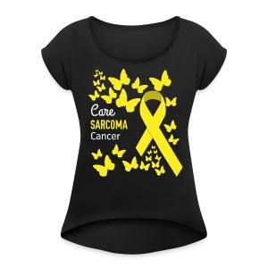 Sarcoma Cancer Awareness - Women's Roll Cuff T-Shirt