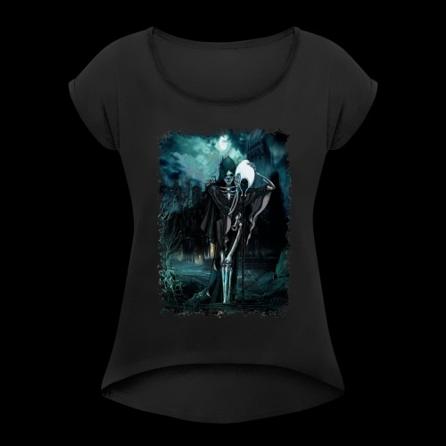 Halloween No-Life King - Women's Roll Cuff T-Shirt