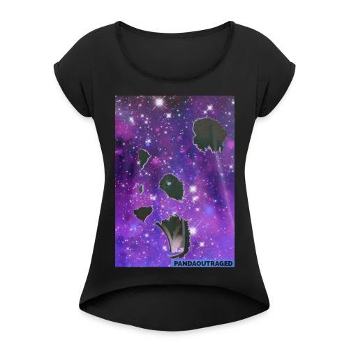 Pandaoutraged - Women's Roll Cuff T-Shirt