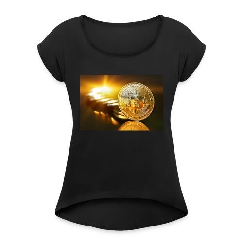 Bitcoin #1 - Women's Roll Cuff T-Shirt
