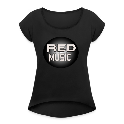 Red Music Logo 2017 - Women's Roll Cuff T-Shirt