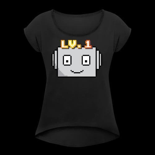Beginner Bots Mascot - Women's Roll Cuff T-Shirt