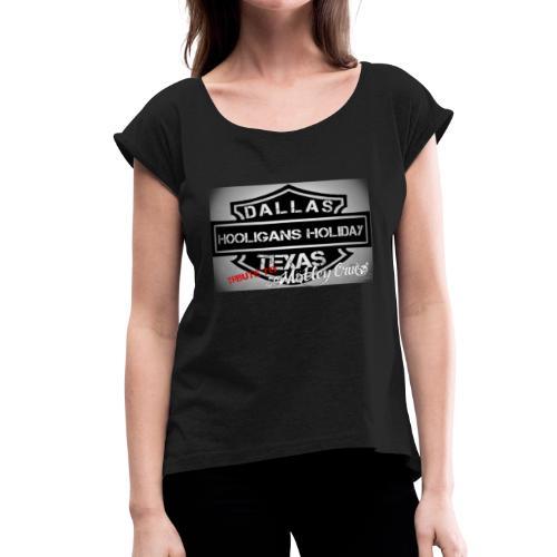 Dallas logo - Women's Roll Cuff T-Shirt