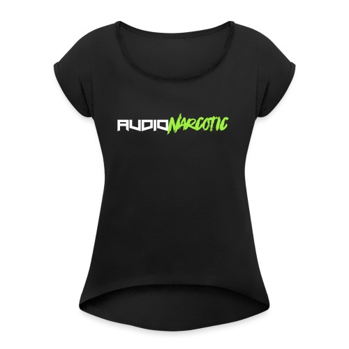 Lime Green Audio Narcotic - Women's Roll Cuff T-Shirt