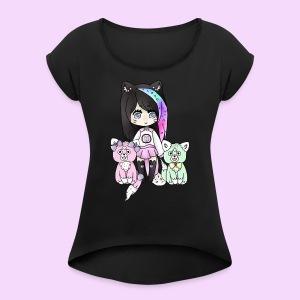 Lolipup Family! - Women's Roll Cuff T-Shirt