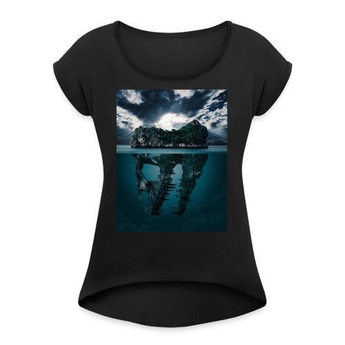 Lost Sea - Women's Roll Cuff T-Shirt