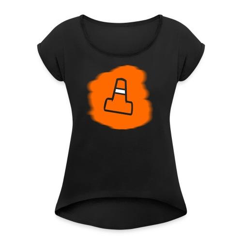 Singular Pylon Logo *Stencil Edition* - Women's Roll Cuff T-Shirt