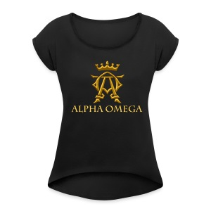 ALPHA OMEGA - Women's Roll Cuff T-Shirt