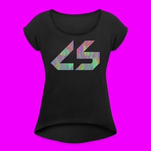 Trippin' Balls Logo - Women's Roll Cuff T-Shirt