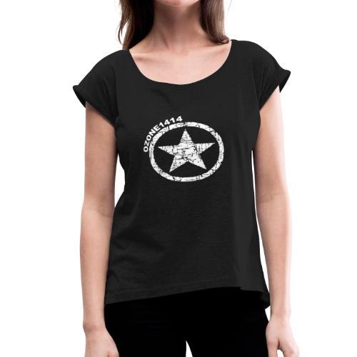ozonestarwhite - Women's Roll Cuff T-Shirt